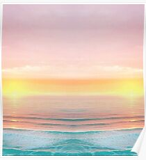 Sunrise Beach Duvets and Blankets Poster
