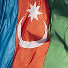 Waving Flag of Azerbaijan From 2014 Winter Olympics by pjwuebker