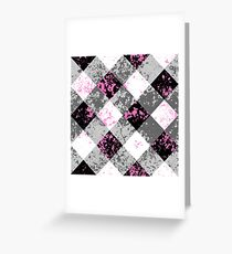 Schwarz-Weiß-Karo Greeting Card