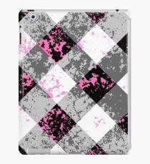 Schwarz-Weiß-Karo iPad Case/Skin