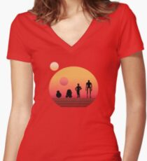 Star Wars Droids Women's Fitted V-Neck T-Shirt