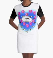 valentine penguins Graphic T-Shirt Dress