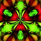 Loud Abstract Green And Red Design by SmilinEyes
