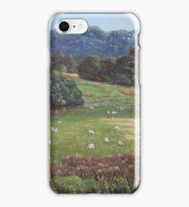 Sheep in a field in the Devon countryside iPhone Case/Skin