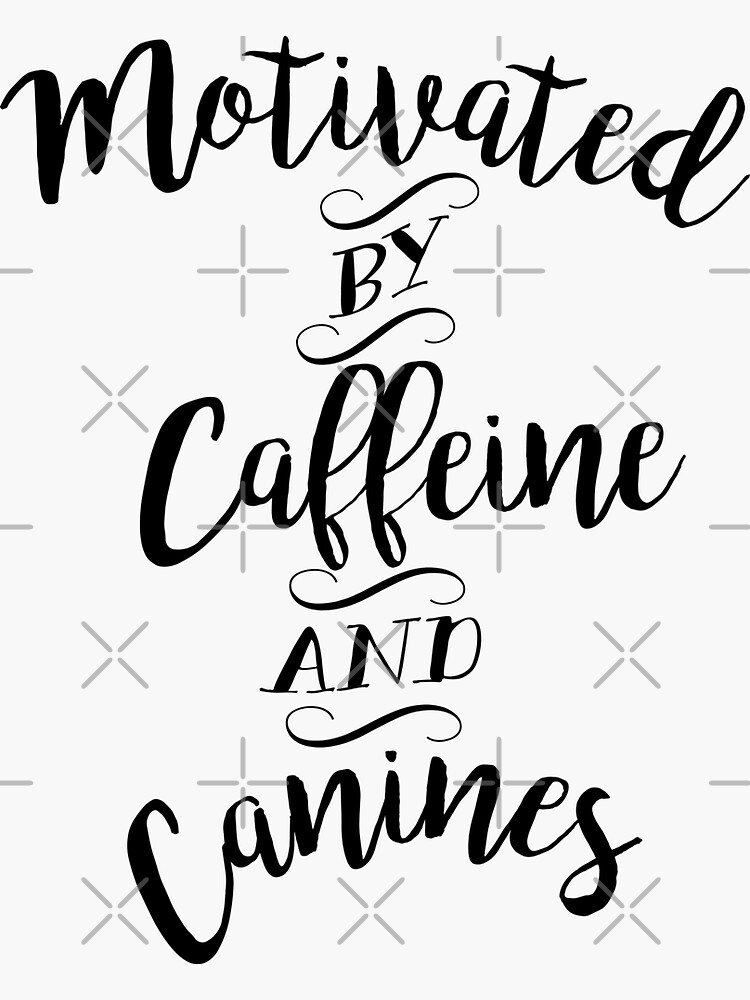 Motivado por la cafeína y los caninos: para los amantes del café y los perros de WishingInkwell