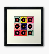 Vinyl Record Pop Collage Framed Print