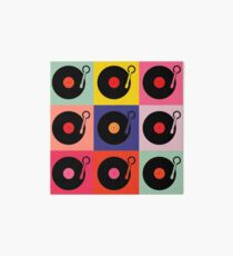 Vinyl Record Pop Collage Art Board