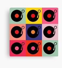 Vinyl Record Pop Collage Canvas Print