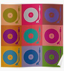 Vinyl Record Pop Art 4 Poster