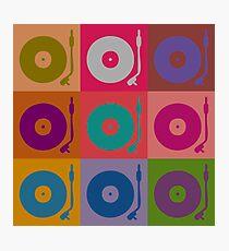 Vinyl Record Pop Art 4 Photographic Print