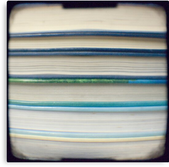 Blue book stripes by gailgriggs