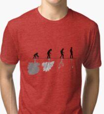 Evolution of Environment , Humans , Nature Tri-blend T-Shirt