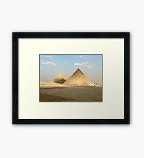Egypt - Pyramids Framed Print