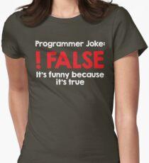 Programmer Joke: !False Womens Fitted T-Shirt