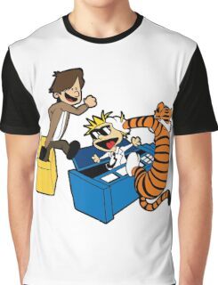 Doctor Who and Hobbes Graphic T-Shirt