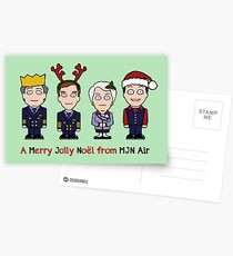 Cabin Pressure Christmas card: the MJN crew Postcards
