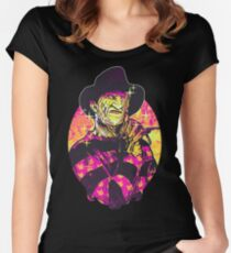 Neon Horror: Freddy  Fitted Scoop T-Shirt