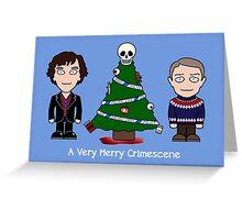 Sherlock Christmas card: Merry Crimescene Greeting Card