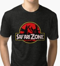 Jurassic Park - Safari Zone Tri-blend T-Shirt