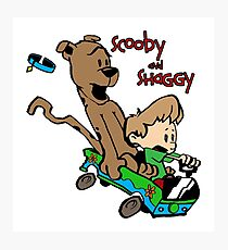 Scooby and Hobbes Photographic Print