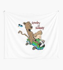Scooby and Hobbes Wall Tapestry