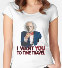 Doc Brown Wants You Women's Fitted Scoop T-Shirt
