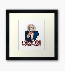 Doc Brown Wants You Framed Print