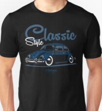 Classic Style. Beetle (blue) T-Shirt