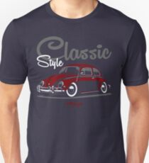 Classic Style. Beetle (red) T-Shirt