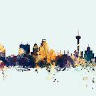 San Antonio Texas Skyline by Michael Tompsett