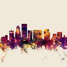 Portland Oregon Skyline by Michael Tompsett