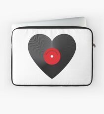 Heart Record Laptop Sleeve