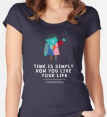 Live Your Life with Craig Sager Women's Fitted Scoop T-Shirt