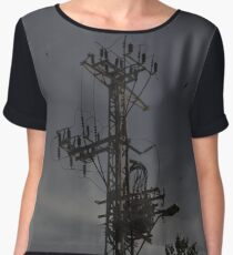 Telephone Wires In Israel Women's Chiffon Top