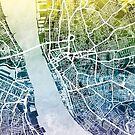 Liverpool England Street Map by Michael Tompsett