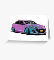Mazda 3 Greeting Card
