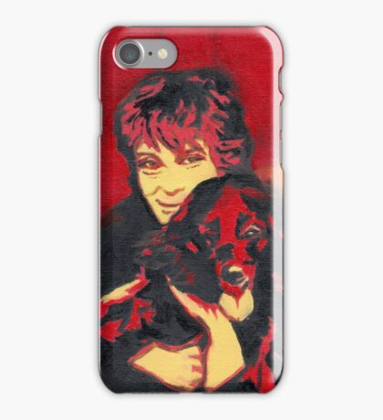 Sheba and Kris - in the old covered bridge iPhone Case/Skin