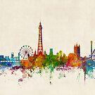 Blackpool England Skyline by Michael Tompsett