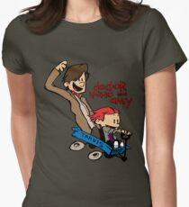 Doctor Who and Amy Womens Fitted T-Shirt