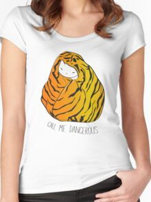 Call Me Dangerous Tiger Cat Women's Fitted Scoop T-Shirt