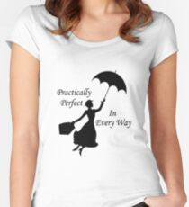 Walt Disney's Mary Poppins design Women's Fitted Scoop T-Shirt