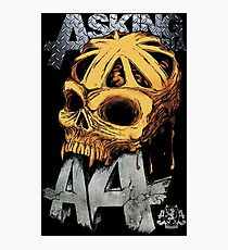 Asking Alexandria Colored England Skull  tshirt and hoodie Photographic Print