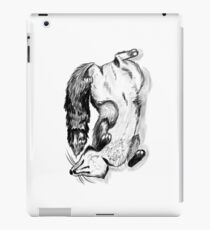 Cute Illustrated Black and White Fox Juniper iPad Case/Skin