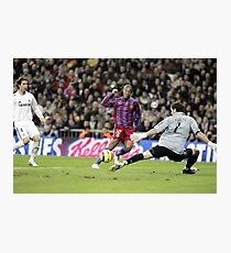 Ronaldinho vs Casillas Photographic Print