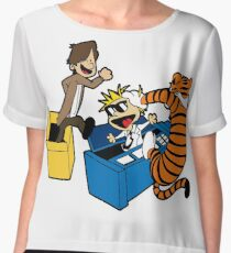Doctor Who and Hobbes Women's Chiffon Top