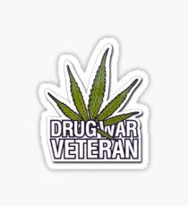 Drug War Veteran  Sticker