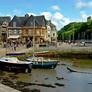 Port of St Goustan in Brittany, France by Buckwhite