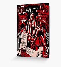 Crowley Woodcut Greeting Card