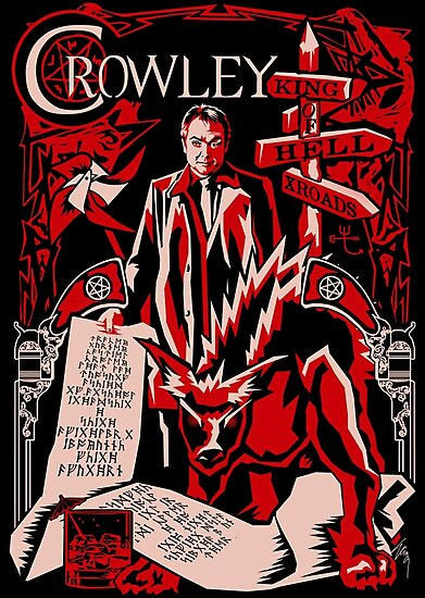 Crowley Woodcut by Ryleh-Mason