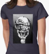 Sci Fi Anime Escher tribute Womens Fitted T-Shirt